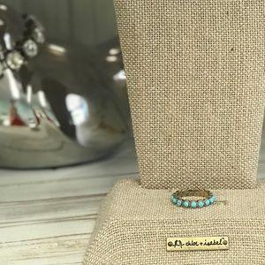 Chloe+Isabel Golden Lotus Turquoise Ring